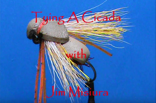Tying a cicada with Jim Misiura