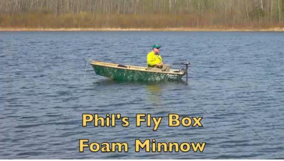 Phil's fly box - foam minnow