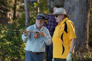 Brian Henderson instructing Gary Pearton