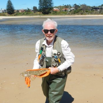 Robin with his 1kg Flathead
