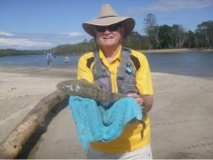 Iain with his flathead, Settlement Point