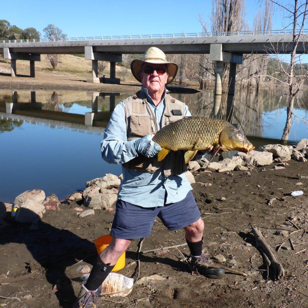 Dave Hall with his 12lb carp