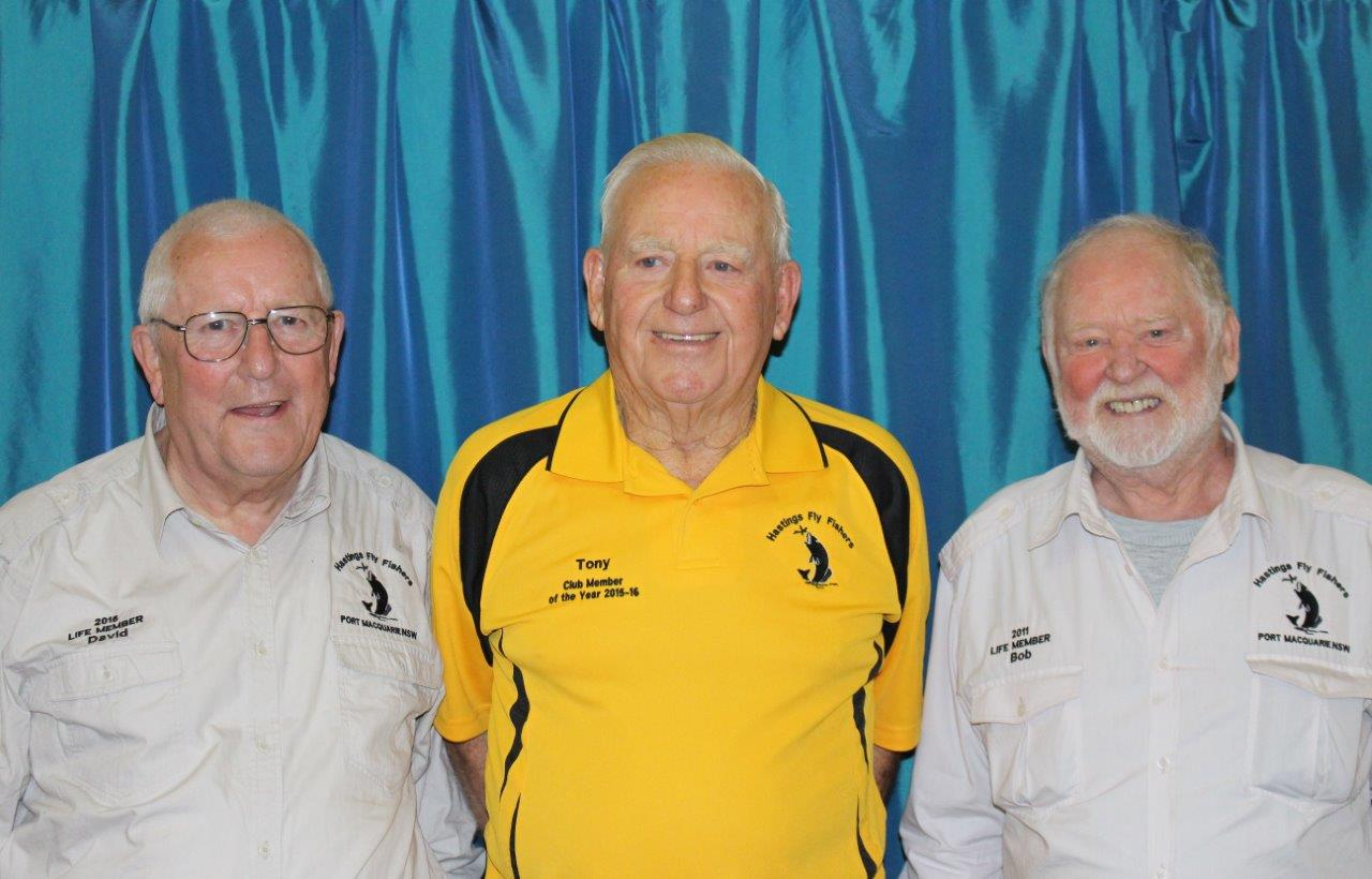 Life Members Dave Wiggins, Tony Bendiech and Bob Dove
