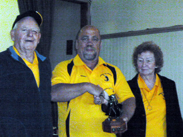 Tony and Nancy recieving the Windknot Award for 2013