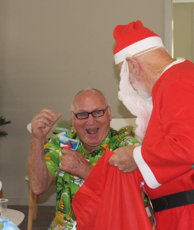2019 Christmas Party - VP Ron is certainly happy about recieving a visit from Santa