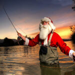 Santa's gone fishing