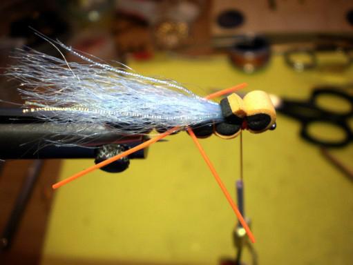 Orange bass flopper step 9