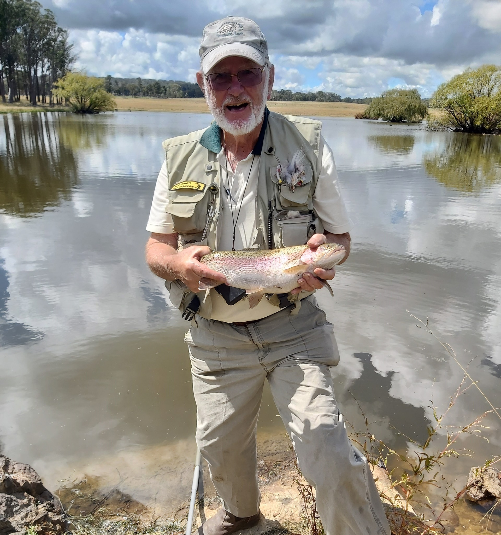 Don with a good-looking trout he caught at Dunmore Trout Waters